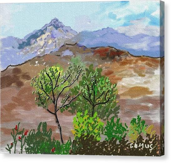 Paisaje- Chile-cerro Campana Canvas Print by Carlos Camus