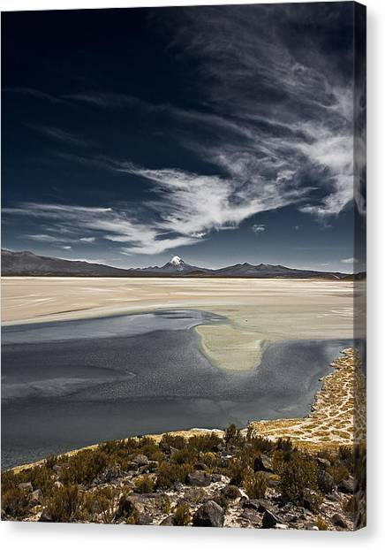 Sajama In The Distance Canvas Print