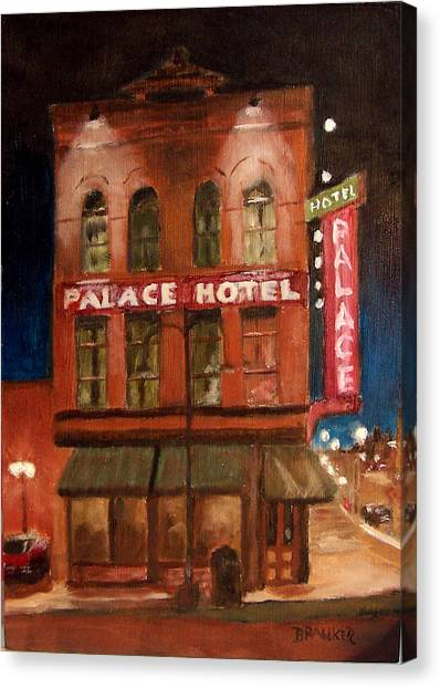 Palace Hotel Canvas Print by Bill Brauker