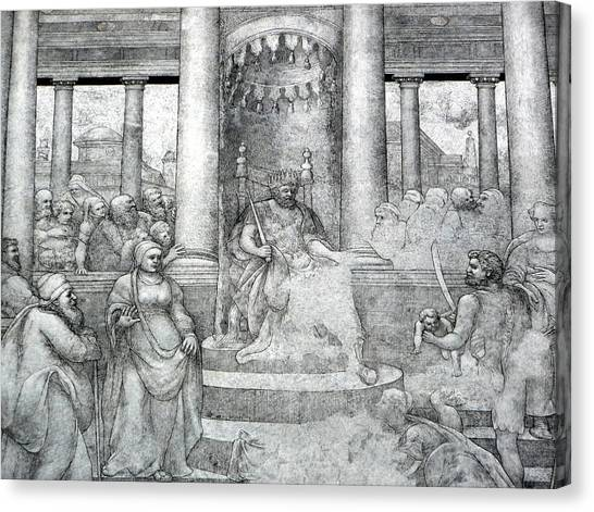 Palace Mural Canvas Print by Lori Seaman