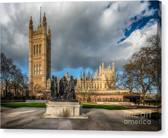 Palace Of Westminster Canvas Print - Palace Of Westminster by Adrian Evans
