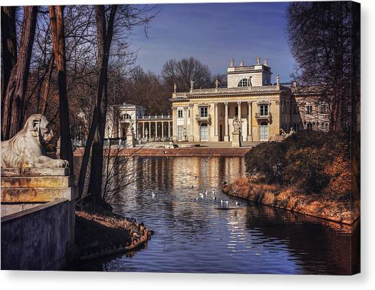 Neoclassical Art Canvas Print - Palace On The Water  by Carol Japp