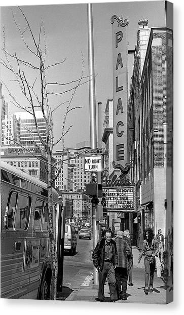 Palace Theatre, 1974 Canvas Print