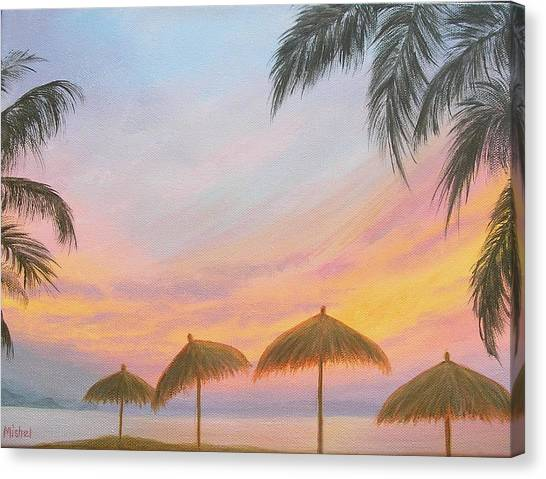 Palapa Point Canvas Print