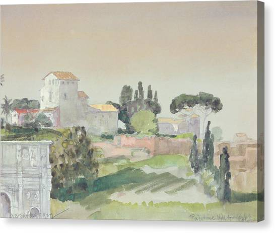 The Colosseum Canvas Print - Palatine Hill From The Colosseum by Arthur Bowen Davies