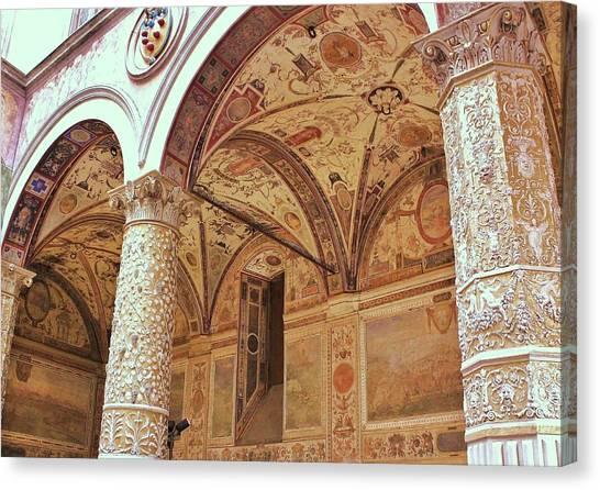 Canvas Print - Palazzio Vecchio, Florence by Slawek Aniol