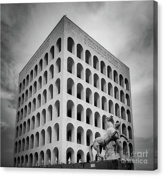 Europa Canvas Print - Palazzo Della Civilta Italiana by Inge Johnsson