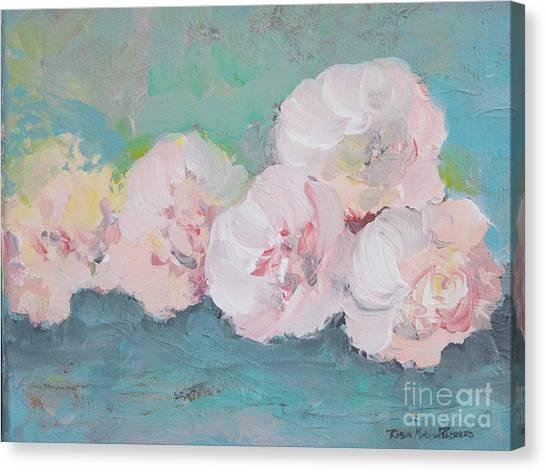 Pale Pink Peonies Canvas Print