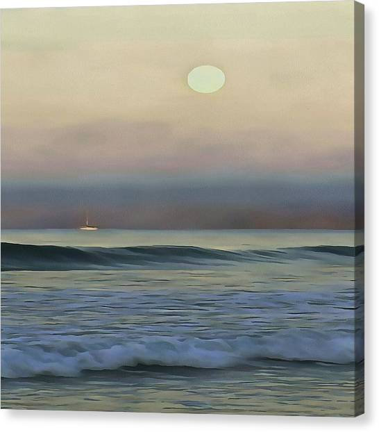 Pale Sunset Canvas Print