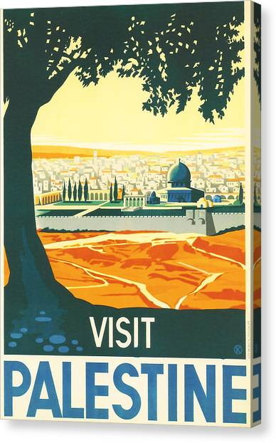 Mountain View Canvas Print - Palestine by Georgia Fowler