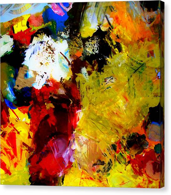 Palette Abstract Square Canvas Print