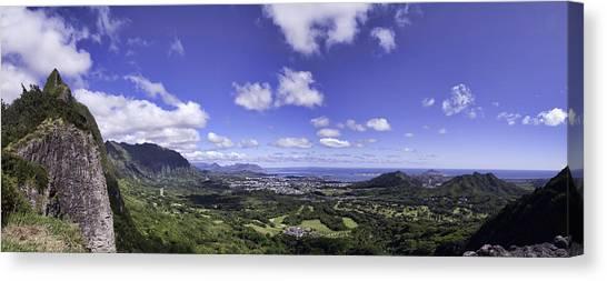Pali Lookout Panorama Canvas Print