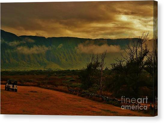 Kalaupapa Cliffs Canvas Print - Pali Sunset At Kalaupapa by Craig Wood