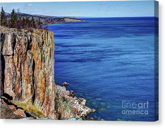 Palisade Head Tettegouche State Park North Shore Lake Superior Mn Canvas Print
