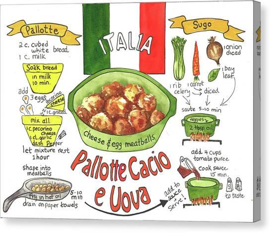 Pallotte Cacio Canvas Print
