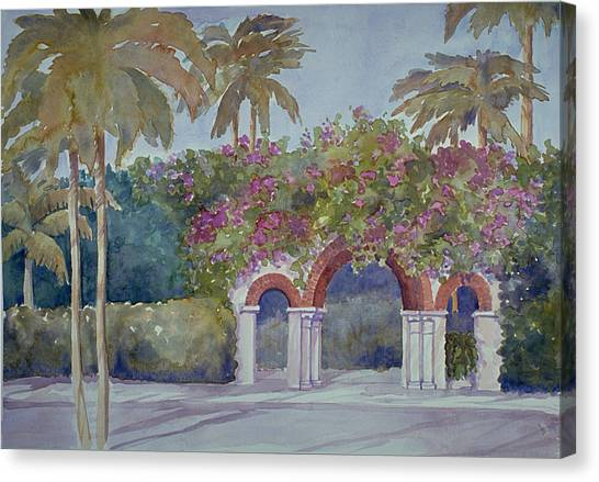 Palm Beach Gates Canvas Print