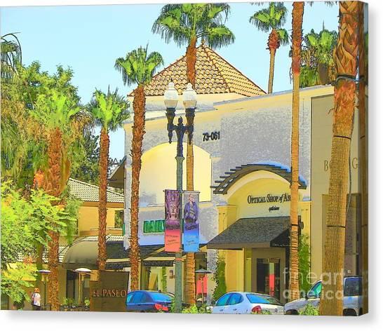 Palm Desert El  Paseo Canvas Print