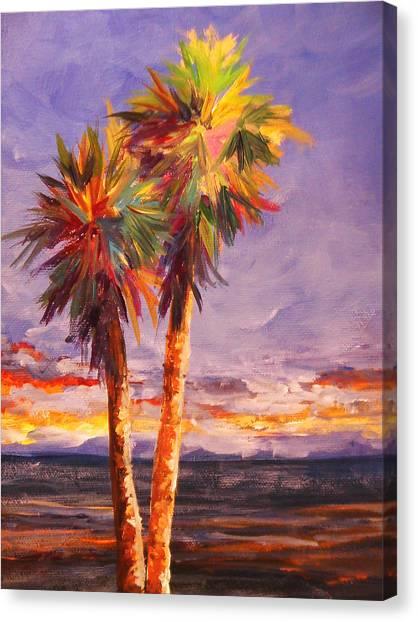 Palm Duo Canvas Print