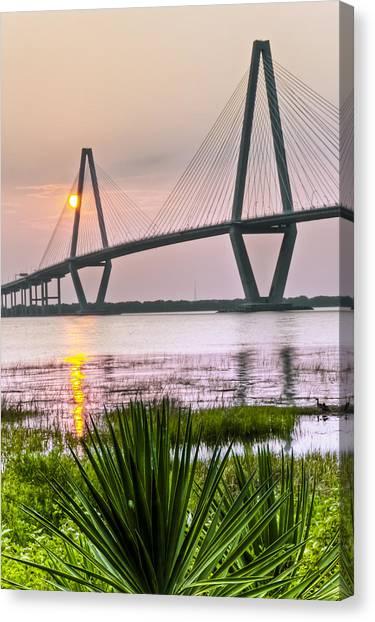 Palm Harbor Sunset - Charleston Sc Canvas Print by Drew Castelhano