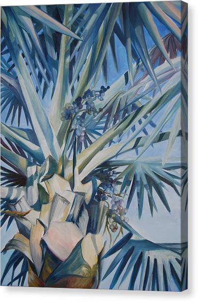 Palm Canvas Print by Katherine  Fyall
