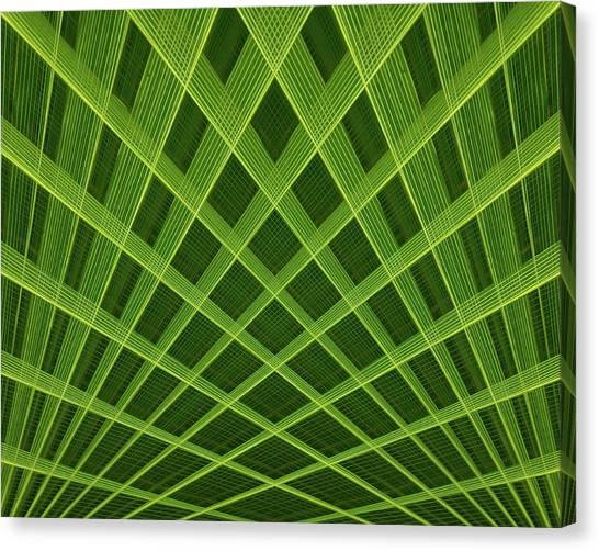 Palm Leaf Composite Canvas Print
