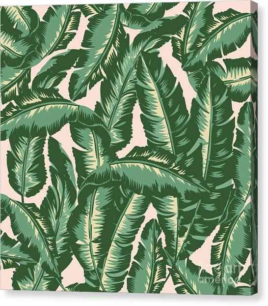 Banana Tree Canvas Print - Palm Print by Lauren Amelia Hughes