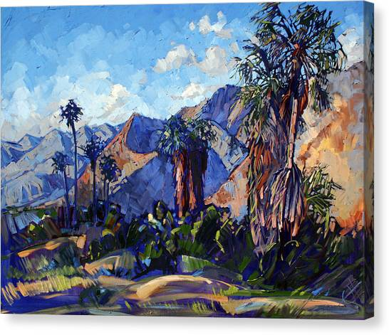 Mojave Desert Canvas Print - Palm Shadows by Erin Hanson