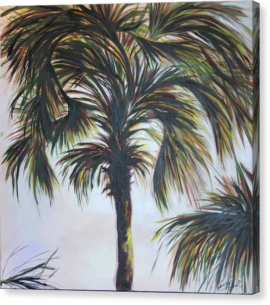Palm Silhouette Canvas Print by Michele Hollister - for Nancy Asbell