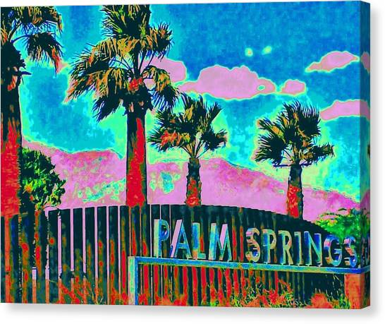 Palm Springs Gateway Three Canvas Print