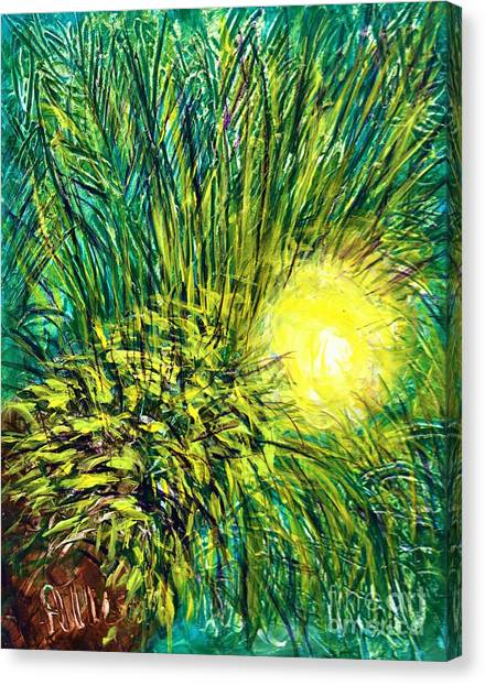 Palm Sunburst  Canvas Print