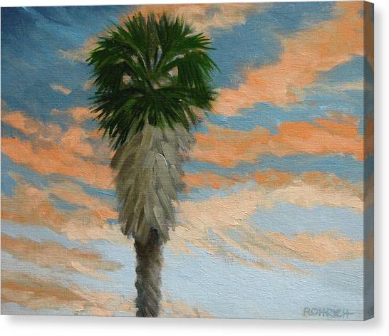 Palm Sunrise Canvas Print by Robert Rohrich