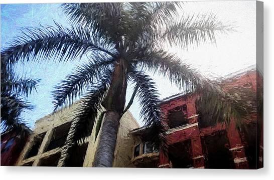 Palm Tree Art Canvas Print