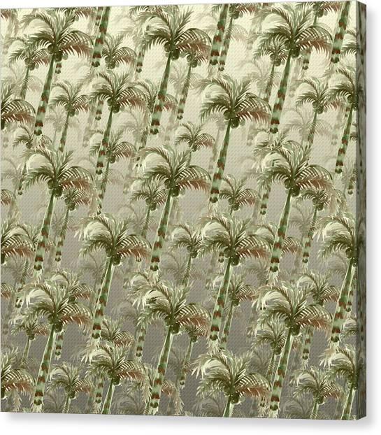 Palm Tree Grove Canvas Print