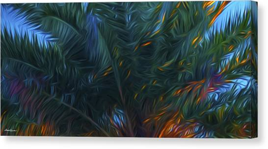 Palm Tree In The Sun Canvas Print