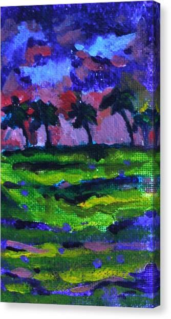 Palm Trees Redux Canvas Print