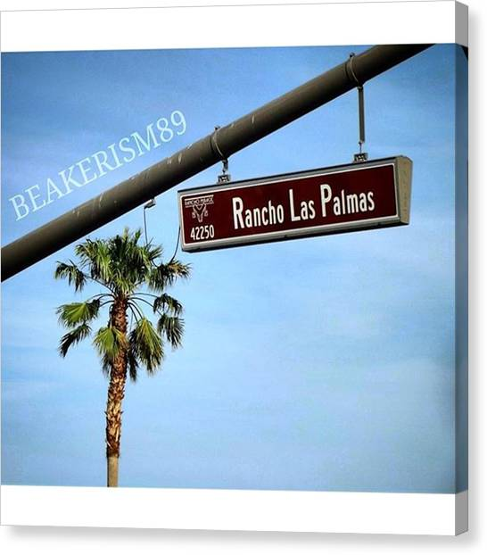 Stoplights Canvas Print - #palmdesert #palma #california by Jose Carmona