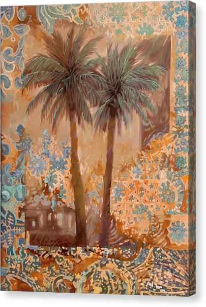 Mosaic Canvas Print - Palme E Decori by Guido Borelli