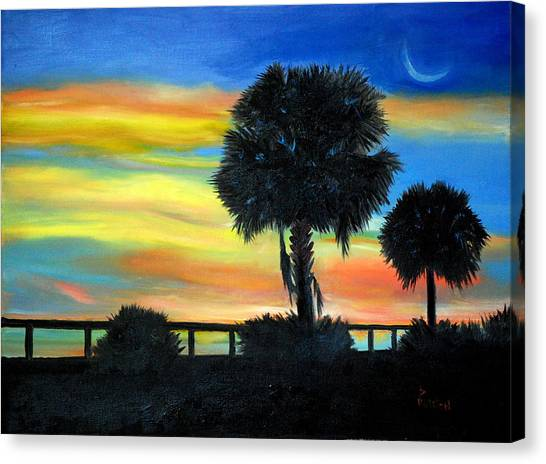 Palmetto Nights Canvas Print