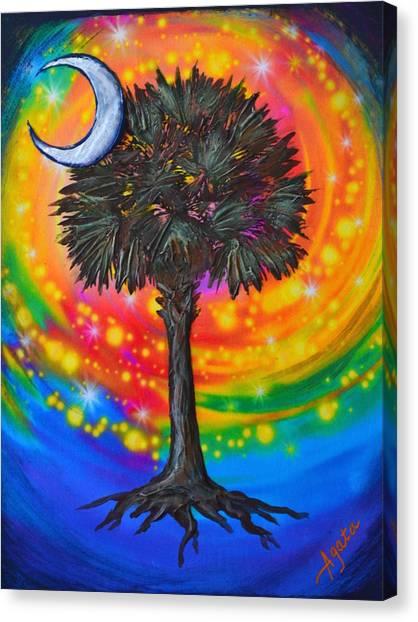 Palmetto Tree Of Life Canvas Print