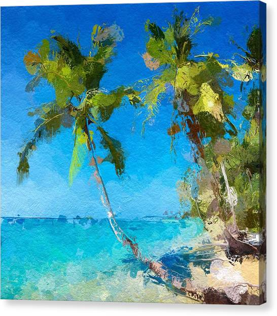 Palms Beach Abstract  Canvas Print