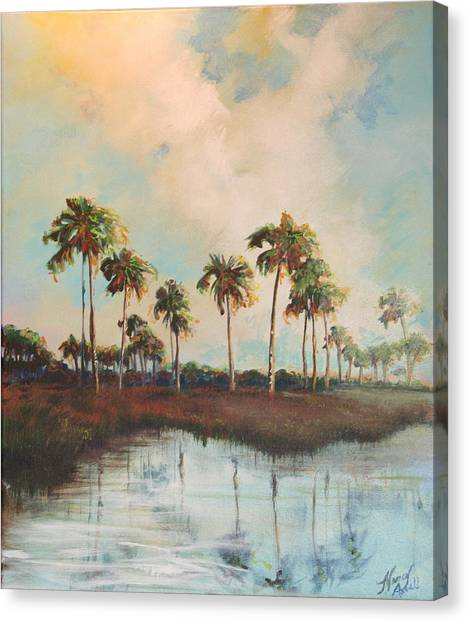 Palms Of Course Canvas Print by Michele Hollister - for Nancy Asbell