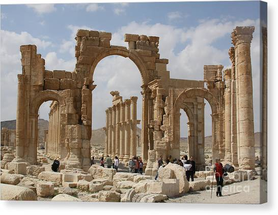 Palmyra Before...triumphal Arch Canvas Print