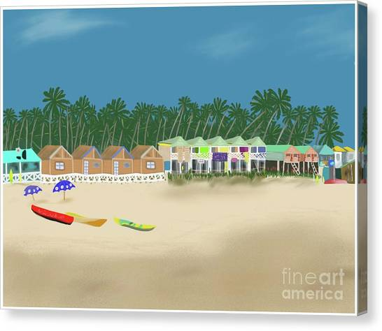 Palolem Beach Goa Canvas Print