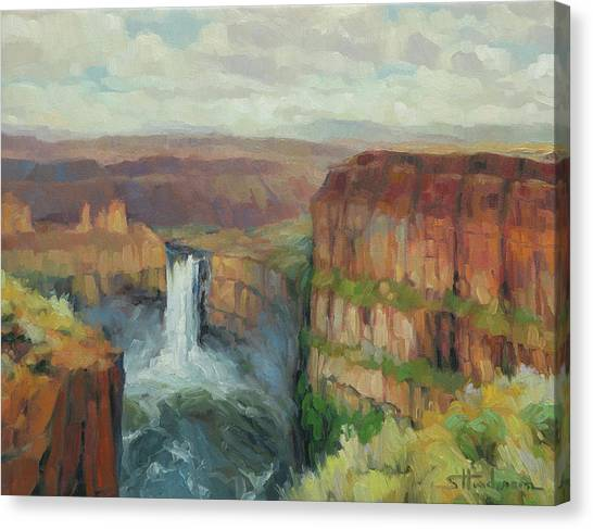 Washington Nationals Canvas Print - Palouse Falls  by Steve Henderson