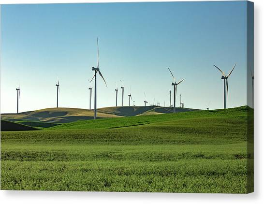 Wind Farms Canvas Print - Palouse Wind by Todd Klassy
