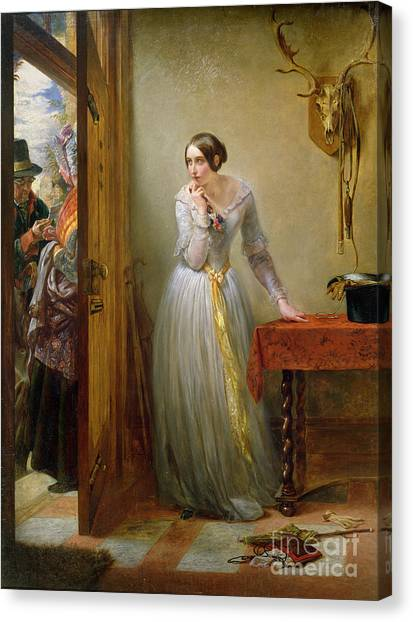 Anxious Canvas Print - Palpitation by Charles West Cope
