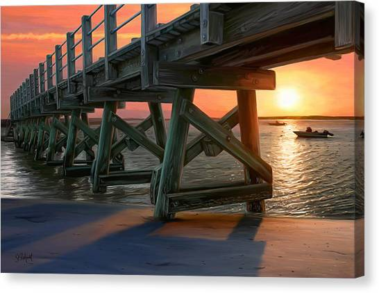 Pamet Harbor Sunset Canvas Print