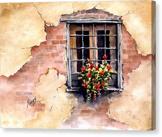 Pampa Window Canvas Print