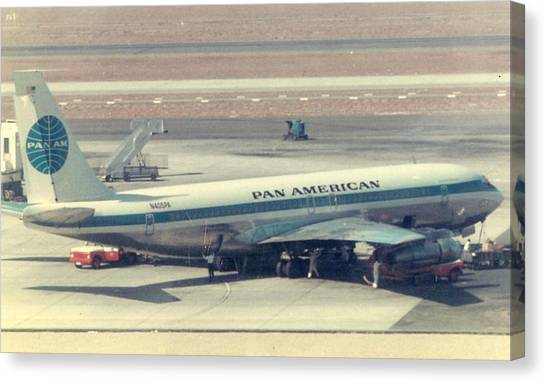 Pan Am 707-321 At Los Angeles International Airport Canvas Print