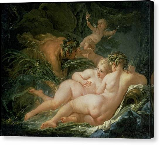 Centaurs Canvas Print - Pan And Syrinx by Francois Boucher